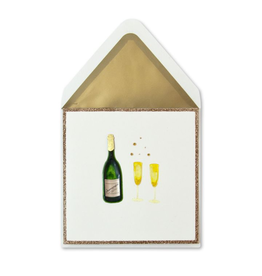 PAPYRUS® Anniversary Card Champagne Bottle and Glasses