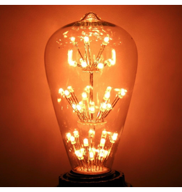 Cleveland Vintage Lighting Vintage Light Bulb Edison Style w 47 LEDs 6-Tier 1.3W 120V E26 Base