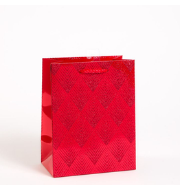PAPYRUS® Christmas Gift Bag Medium 7x9x4 Red Diamond Glitter