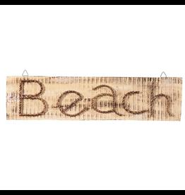Gallerie II Rustic Beach Sign Wood w Rope WAL70360 Coastal Home Decor
