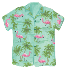 Caspari Fathers Day Card Flamingo Shirt