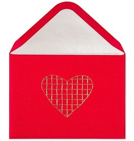 PAPYRUS® Blank Card Embroidered Gold Heart | Lori Weitzner Design