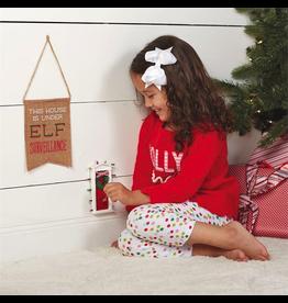Mud Pie Christmas Elf Door Gift Set W Key And Under Elf Surveillance Flag