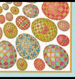 Caspari Easter Paper Cocktail Napkins 20pk Imperial Easter Eggs