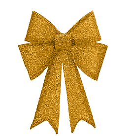 Mark Roberts Christmas Decorations Gold Fabric Shimmering Bow LG 13x18