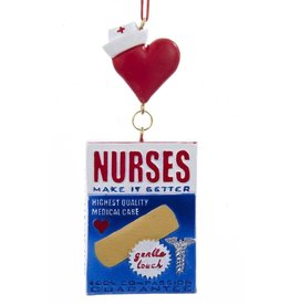 Kurt Adler Nurses Make It Better Bandage Box Christmas Ornament