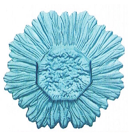 Point a La Ligne Sun Glass Candle Plate 9D inches Aqua