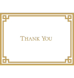 Caspari Thank You Note Cards Embossed Set of 6