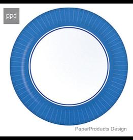 PPD Paper Product Design Paper Plates 87165 Blue Salad Dessert Plate