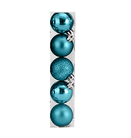 Kurt Adler Christmas Shatterproof Ball Ornament 60MM Set of 5 Light Blue