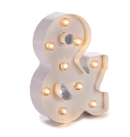 Darice LED Light Up Marquee Letter & 5915-778 White Metal