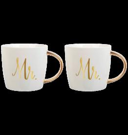 Slant Ceramic Mugs Set of 2 14oz F158531 Mr and Mr
