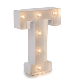 Darice LED Light Up Marquee Letter T 5915-796 White Metal