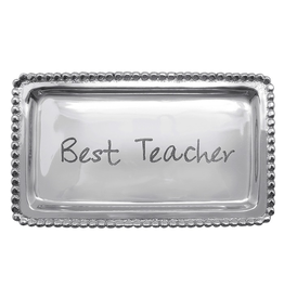 Mariposa Engraved Sentiment Tray 3905TE Best Teacher