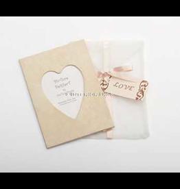 Photo Frame Greeting Card Love  Pink Ivory Swirl Frame