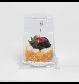 K&K Interiors Place Card Holder Cake w Strawberry Card Holder