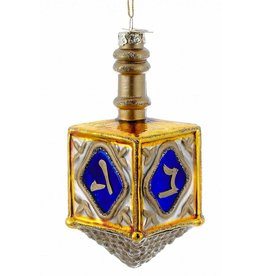 Kurt Adler Jewish Dreidel Glass Ornament 4 Inch Noble Gems