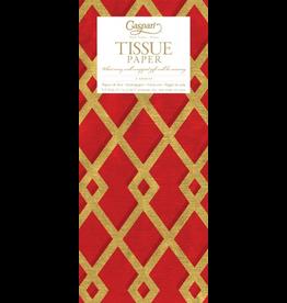 Caspari Gift Tissue Paper Trellis Red Gold