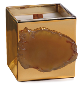 Zodax Agate Apothecary Guild Scented Candle Jar 7.7oz Wood Ash Fragrance