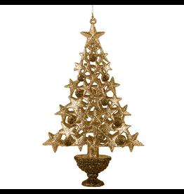 Kurt Adler Christmas Tree Ornament w Gold Glittered Tree