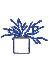 Mud Pie Blue Beaded Coral Napkin Rings 1 Count