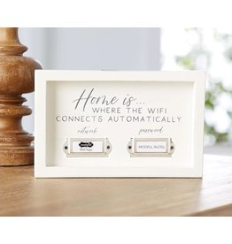Mud Pie Home WIFI Network And Password Plaque