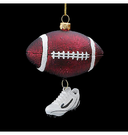 Kurt Adler Noble Gems Glass Football w Shoe