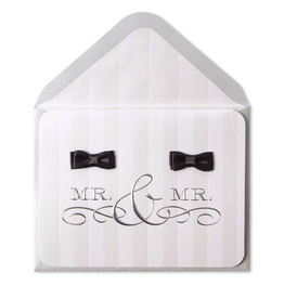 PAPYRUS® Wedding Card Gay Wedding Mr And Mr Groom Bow Ties