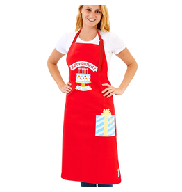 Twos Company Light Up Musical Happy Birthday Apron Cotton 41x36