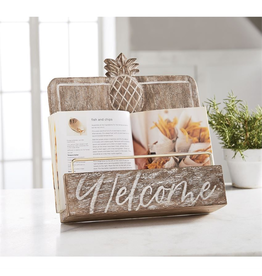 Mud Pie Pineapple Welcome Cookbook Holder Stand