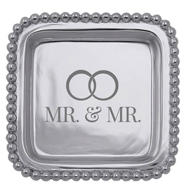 Mariposa Engraved Sentiment Tray Gay Wedding Gift Mr and Mr