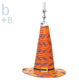 Burton and Burton Halloween Hanging Paper Witch Hat Decoration 18 Inch Orange