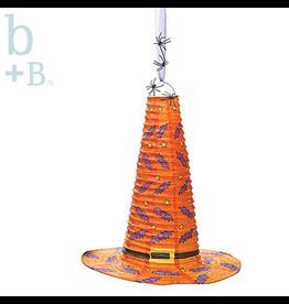 Burton and Burton Halloween Hanging Paper Witch Hat Decoration 18 Inch Orange