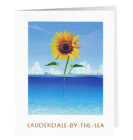 LBTS Garden Club Lauderdale-By-The-Sea 10 Blank Note Cards Stationery