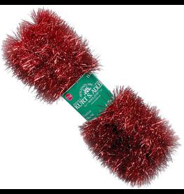 Kurt Adler Red Tinsel Garland 15ft 4 Ply Christmas Garland  P0401