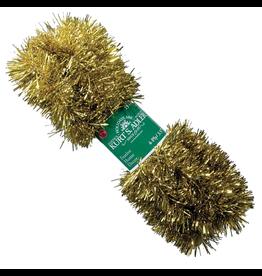 Kurt Adler Gold Tinsel Garland 15ft 4 Ply Christmas Garland  P0401