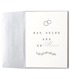 PAPYRUS® Wedding Card Eat Drink and Be Married Letterpress