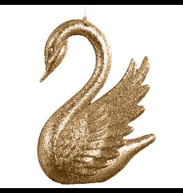 Kurt Adler Christmas Tree Ornament w Gold Glittered Swan