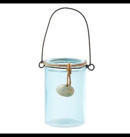 Kurt Adler Christmas Ornament Glass Mason Jar w Shell