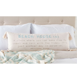 Mud Pie Beach House Definition Long Throw Pillow 12x35 Inch