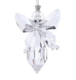 Kurt Adler Clear Acrylic Angel Ornament Finial Shape 4 Inch