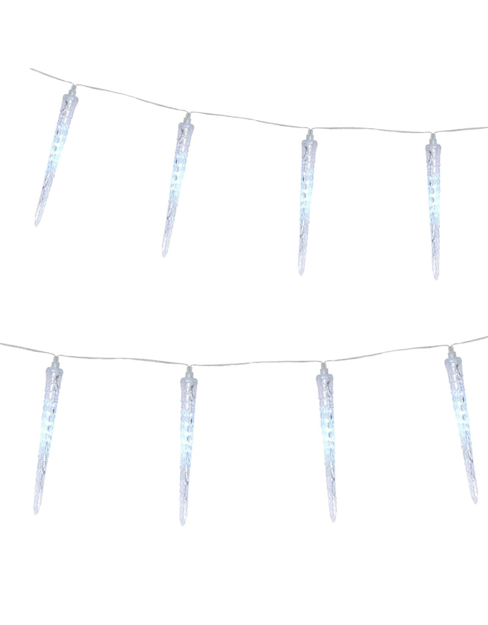 Darice 8 Raining Icicle Christmas Lights w 12L LEDs Each Icicle