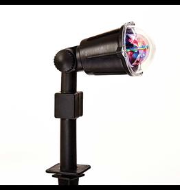 Kurt Adler LED Revolving Meteor Shower Spotlight w Lawn Stake 14H