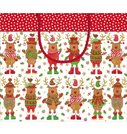Caspari Christmas Gift Bag 11x4x10 - Sweater Party
