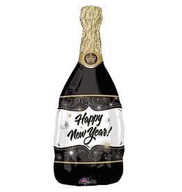 Burton and Burton Happy New Year Champagne Bottle Foil Balloon 36 inch