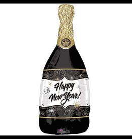 Burton and Burton Happy New Year Champagne Bottle Foil Balloon 36 inch