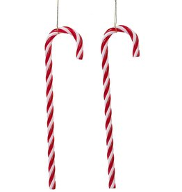Kurt Adler Candy Canes Hanging Christmas Ornaments Set of 12