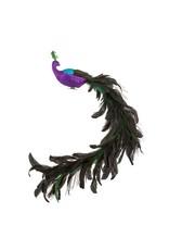 Kurt Adler Christmas Peacock Feathered Clip On Ornament New 2020 D3886 Set//2