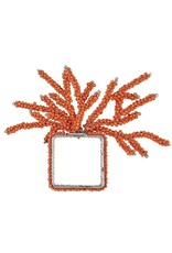 Mud Pie Beaded Coral Napkin Rings 1 Count
