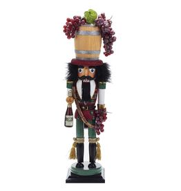 Kurt Adler Christmas Nutcracker Hollywood Wine Nutcracker 19H